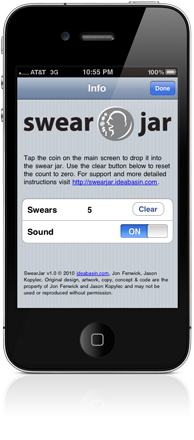 Swear Jar iPhone Screen Shot